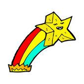 Rainbow shooting star — Stock Vector
