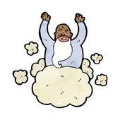 Dieu sur nuage — Vecteur