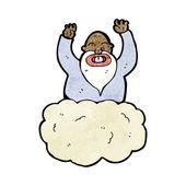 Bůh na mrak — Stock vektor