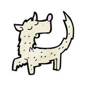 Scruffy little dog — Stock Vector