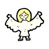 Angel çizgi film — Stok Vektör