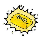 Bar of gold cartoon — Stock Vector