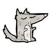 Little wolf — Stock Vector