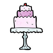 Cake on cakestand — Stock Vector