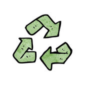 Recycling symbol — Stock Vector