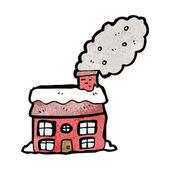Casa com chaminé de fumar — Vetorial Stock