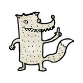 Curioso lobo — Vector de stock