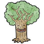 Happy tree — Stock Vector