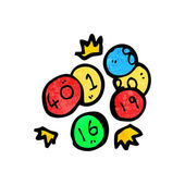Loteria kulki — Wektor stockowy