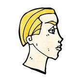 Face profile — Stock Vector