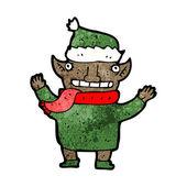 Noel elf — Stok Vektör