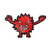 毛茸茸的小怪物 — 图库矢量图片