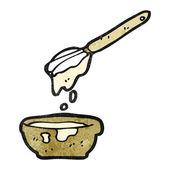 Cake mixture cartoon — Stock Vector
