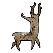 Happy christmas reindeer cartoon — Stock Vector