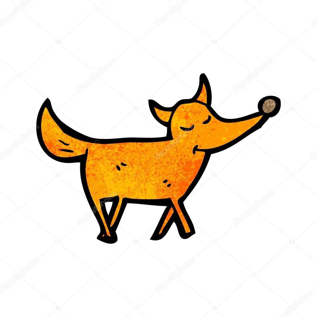 向量,在白色背景上的卡通狐狸– 图库插图