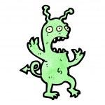 Green Devil Monster — Stock Vector #21476015
