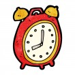 Alarm clock cartoon — Stockvektor