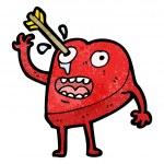 Love hurts cartoon — Stock Vector