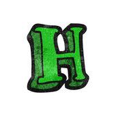Bokstaven h — Stockvektor