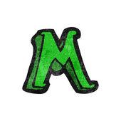 Letter m — Stock Vector