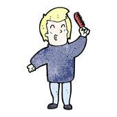 男子头发梳 — 图库矢量图片