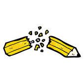 Broken pencil — Stock Vector