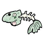 Old fish bones — Stock Vector