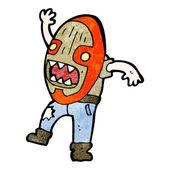Homem de máscara assustadora — Vetorial Stock