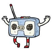 Retro cassette player — Stock Vector