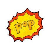 Pop sign — Stock Vector