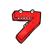 Number seven — Stock Vector