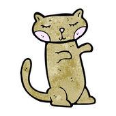 Happy velké oči kočky kreslený — Stock vektor