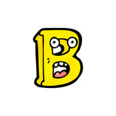 Cartoon letter b — Stock Vector