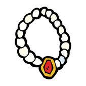 Cartoon pärla halsband — Stockvektor