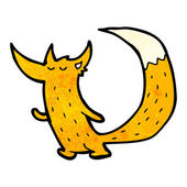 Cute little fox cartoon character — Stock Vector