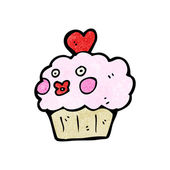 Happy cupcake cartoon — Stockvektor