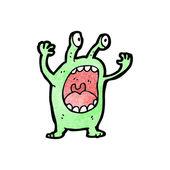 Caricature de créature extraterrestre — Vecteur