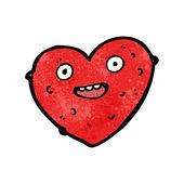 Gross love heart cartoon — Stock Vector