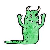 Vänliga monster cartoon — Stockvektor
