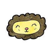 Cute cartoon lion — Stock Vector