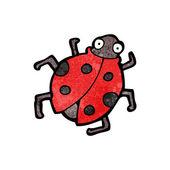 Kırmızı uğur böceği — Stok Vektör