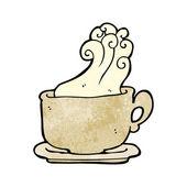 Steamy Tan Coffee Mug — Stock Vector