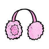 Mostro rosa peloso del cartone animato — Vettoriale Stock
