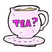 Cup of tea cartoon — Stockvektor
