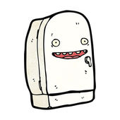 Refrigerator cartoon character — Stockvektor