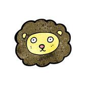 Sevimli çizgi aslan — Stok Vektör