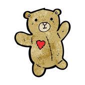 Teddy with heart patch cartoon — Stock Vector