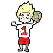 Cartoon soccer player — Stock Vector