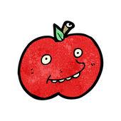 Funny cartoon apple — Stock Vector