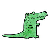 Green Crocodile — Stock Vector